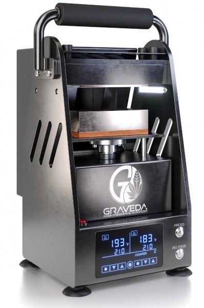 Graspresso. Prensa de Rosin con cilindro hidráulico de 3 toneladas. Prensa de resina. Placas de 12 x 7,5 cm