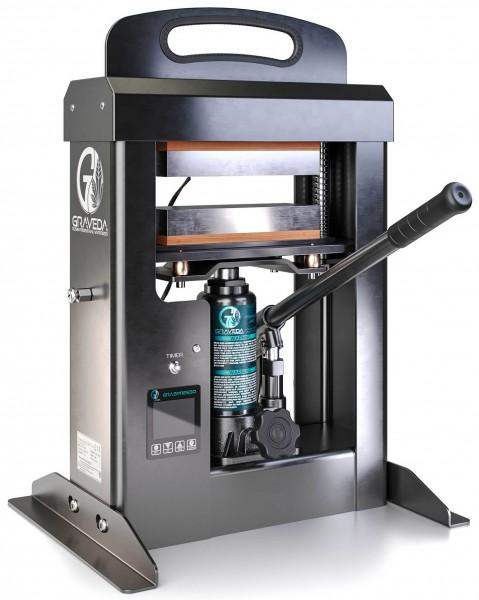 Graspresso - 20t Rosin Pers met 20 ton hydraulische cilinder, harspers, 20 x 7,5 cm platen
