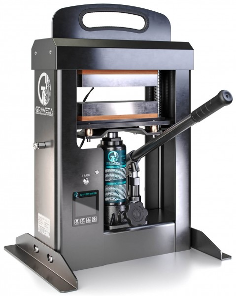 Graveda 20 Ton Rosin Press with a hydraulic cylinder (Heating plates: 20 x 7,5 cm)
