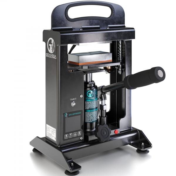 Graveda 10 Ton Rosin Press with a hydraulic cylinder (Heating plates: 12 x 6 cm)