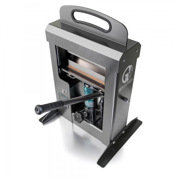Graspresso - 20t Rosin Press mit 20 Tonnen Hydraulik Zylinder, Kolophonium Presse, 20 x 7,5 cm Platt
