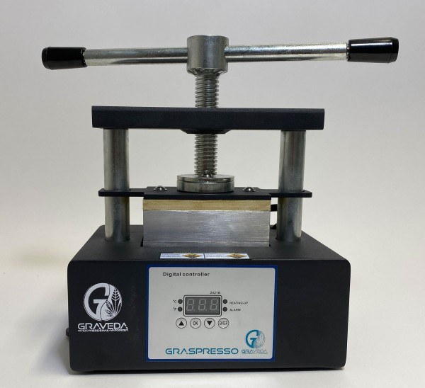 Graspresso GP9-1 Rosin Press bis 1T, Platten 12 x 6 cm